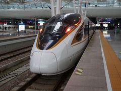 帰りの高速列車は、中国国産列車の復興号CR400BF。