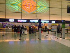 一晩をホテルで過ごし、翌朝7:00出発。  ジョージ・ブッシュ・インターコンティネンタル空港Dターミナルに行き、ANA173便のチェックインをしました。  写真はDターミナル出発ロビーです。