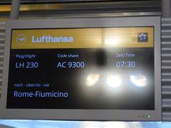 さて、朝7時半のルフトハンザのフライトでロンドンに飛びます  定刻に出発  しかし、国際線の7時半は早いので、近くのホテルに泊まって大正解