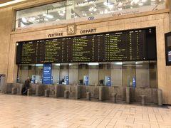 およそ10分ほどでブリュッセル陸路の玄関口、ブリュッセル中央駅に到着です。 ここからベルギー国鉄の空港線に乗り換えて空港を目指します。
