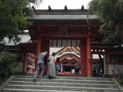 駐車場から結構歩きました。  こちらの神社は、ジャイアンツのキャンプ時にいつも参拝に行く神社です。