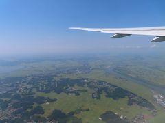 時は遡り 暑いながら  とてもいい天気の成田空港を飛び立ったのは  同日の12時過ぎ
