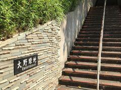 万葉植物園。 この階段を登っていきます。