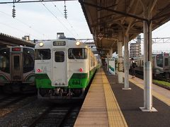 キハ40→代行バス→キハ40と只見線に乗車して、小出から会津若松駅へやってきました。
