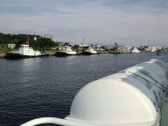 9月5日 15:20 飛島 ~ サイクリングで島内散策 https://4travel.jp/travelogue/11538767 から酒田港に戻ってきました。