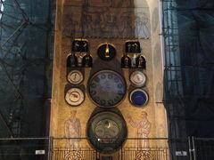 オロモウツ時計塔 Olomoucký orloj  残念ながら、滞在中に仕掛けが動くところは見れなかった。