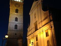 Náměstí Přemysla Otakara II. プシェミスル・オタカル2世広場  さて、もういちど、広場横にある聖ミクラーシュ大聖堂(Katedrála svatého Mikuláše)と黒塔(Černá věž)を見てから帰途につきます。ホテルまでが遠い。。。