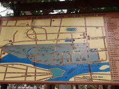 ホイアンの市内に来ました。 ホイアンの全体マップ