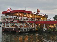 ハノイは、チュングエンコーヒーが少なくてハイランズコーヒーが多い。 タイ湖に浮かぶハイランズコーヒーで夕焼けを見ながら・・・は、曇っていて見られそうもない。