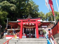 熊本城稲荷神社を5分だけ観光し
