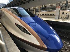 北陸新幹線「かがやき」に乗車し金沢へ。