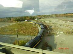 アラスカ鉄道です。 明日デナリ国立公園からアンカレッジまで7時間半の列車旅をします。