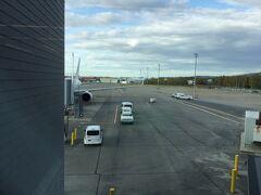 JAL直航便でフェアバンクス国際空港 (FAI)へ到着しました。 飛行時間は7時間と少し。