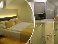 プラハ国際空港からホテルまでは、ホテルのプライベートタクシーを お願いしておきました。(750コルナ、1コルナ≒5円)  パティオに面した清潔で静かなお部屋です。