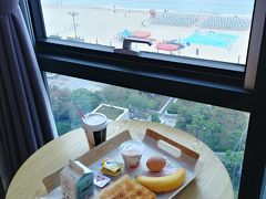 ホテルで朝ごはん