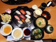歩き疲れたので、駅名店街加賀屋レストランで久し振りの日本食を食べる。