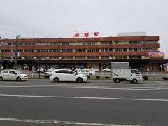 釧路駅前到着。 人がほとんど歩いていません。