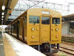 2019.08.30 徳山 下関からやはり1分連絡…直角座席の2両編成で岩国まで3時間行程である。