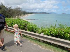 歩いてカイルアビーチまで移動。