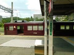 2019.08.31 川西能勢口ゆき普通列車車内 速攻折り返す。