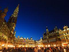 まずは夜のブリュッセル観光。見たかった夜のグランプラス。予想通り綺麗でした。