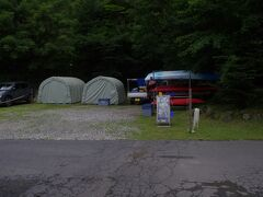 栃木カヤックセンターのテント