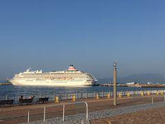 新中央埠頭には大型客船 飛鳥Ⅱかもしれない