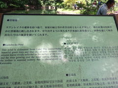 最初の目的地、軽井沢の定番「雲場池」 まだ朝早いけどそこそこ混んでいます。海外の方が多い!