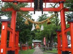 生島足島神社へ着くころには上がりました。