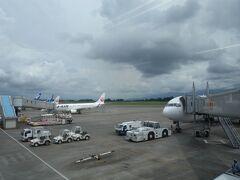 珍しく、駐機場に飛行機がたくさん!