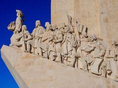 彫像をアップ! エンリケ航海王子を先頭にヴァスコ・ダ・ガマやマゼランなどの偉人達が続く。