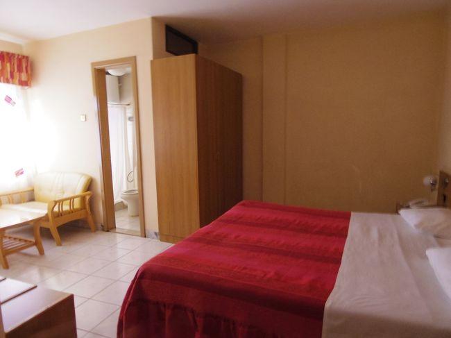 部屋は結構ゆったりとしたダブルで快適。