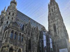 シュテファン大聖堂へ。 ウィーンは裏路地もどこも治安が良く感じましたが、ここ周辺広場は少し危険センサーが働きました。