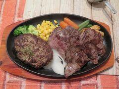 沖縄に行ったら必ずステーキを!と思っているので、 今回はホテル近くの「JACK IN THE STEAK」へ。 ステーキは赤身がしっかりしていおり、素晴らしい味。 付け合わせの野菜も豊富で、娘にも色々あげることができました。