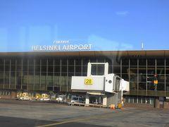 シンプルに、ヘルシンキ空港と表示されています。  北緯60度を越えています。