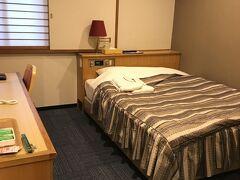というわけで、もう本日のお宿です(^_^;)。 中町フジグランドホテルに泊まりました。 もう、ダブルしか空いてなくてダブルです(^_^;)。