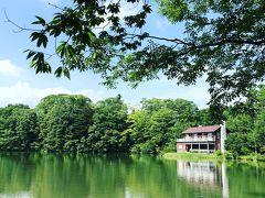 湖にも景色が映り込む。