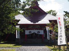 本間家から徒歩5分(坂道なので)、厳島神社へ向かう。