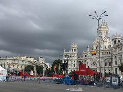 そろそろレース会場へ。 雨が上がりました。