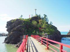 弁天島じゃなく弁天岩といわれるくらいなので、小島です