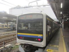 07:52 外房線の電車がすぐに発車