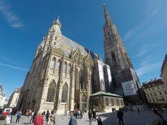 13:10 シュテファン大聖堂  オール・インクルーシブのチケットを購入。14.9ユーロでした。