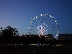 最後にチュイルリー公園の遊園地に行きました。