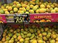これがアルフォンゾマンゴー売り場 最高のマンゴーで香りもすご〜〜い