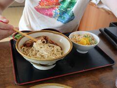 お昼は前回の旅でもお世話になった「なかむらそば」で。 前回はなかった夏季限定のつけ麺を頂きました。