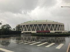雨が降っていたので、道中の写真はありません。 林口體育館の写真は撮りました。
