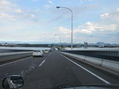 琵琶湖大橋って通るとタイヤの摩擦で音楽が奏でられるのね。  タクシーに乗ってよかった。