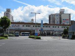 ホテルで一息ついた後で再び松江駅へ。駅が近くて便利。 公共交通機関主体で移動する身にとっては駅近のホテルが望ましいのは言うまでもありません。
