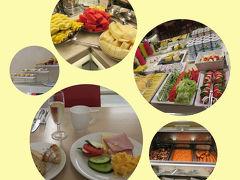 現実はホテルに戻り、美味しい朝食を モリモリいただきました^^  スパークリングの朝シャンがあるのも嬉しい♪