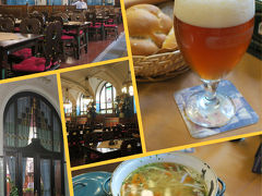 """市民会館地下のビアホール """"プルゼニュスカー レスタウラツェ""""  地下とは思えない明るい内装にレトロな雰囲気。  チェコの2大ビールの一つ「ピルスナー・ウルクェル」 プルゼニュスカーとはピルスナーのチェコ語だそう。 ビール 97コルナ、スープ 105コルナでした。  サービス料は入っていないからとわざわざ言われたので チップの催促だったと思うけど、店内の奥で予約用の テーブルセッティングをしており、ドタドタガチャガチャ うるさかったからチップなど論外!無視しました。 セッティングは開店前にしておいてね!  ビールは文句なく美味しかった~☆"""